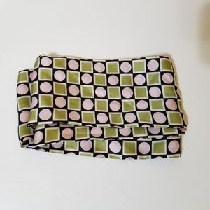 Geometric MOD silky 60s head or neck scarf